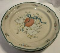 "Set of 5 International China Marmalade Dinner Plates Goose 10 3/4"" Diameter EUC"