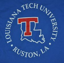 T-SHIRT S SMALL LOUISIANA TECH UNIVERSITY RUSTON BASEBALL FOOTBALL SHIRT