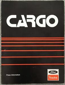FORD TRUCKS CARGO Press Information Pack MAR 1981 #7743