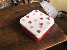 Emma Bridgewater  Snack Boxes, 4, stackable, melamine, Pink Hearts