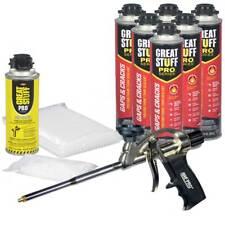 Great Stuff Pro Gaps Amp Cracks Kit 6 24 Oz Cans Foam Gun 100 Straws Amp Tips