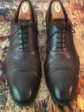 Santoni Gray Cap Toe Leather Oxfords Size 12 (UK 11)