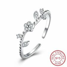 Beautiful Real 925 Sterling Silver Ring Women Wedding Engagement Jewelry Gifts