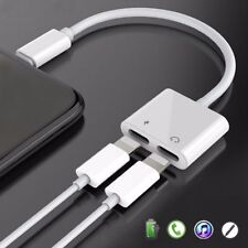 Dual Lightning Charging Earphone Jack Charger Adapter Cable For Phone 7 8 X