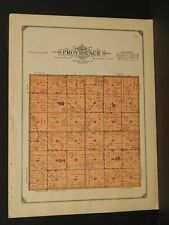 Minnesota Lac Qui Parle County Map Providence Township  1913  W3#08