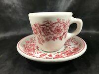 Vintage CARR China Restaurant Ware DAYTON Coffee Tea Cup Saucer