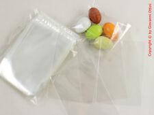 100 Bustine Trasparenti PVC Crystal per Alimenti per confetti Made in Italy 6x9