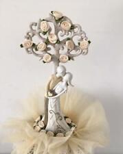 Cake topper SPOSI ALBERO avorio matrimonio nozze decorazione torta