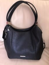Brand New Black CORELLI Ladies Hand-Shoulder Bag With Silver Tone Hardware