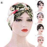 Women Flower  Printed Bandanas Scarf Headwear Folding Head Wrap Turban Hair Hats