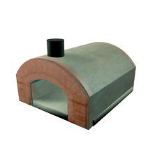 Forno a legna prefabbricato CASA per 3 pizze LINEA VZ modello CAPRI  NEW!!!