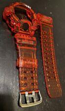 For G-shock Rangeman  gw9400 orange transparent  jelly bezel and strap
