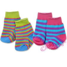 18 Inch Doll Socks - Multi Color Striped Knee High Socks - Fits American Girl