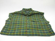 Woolrich 2XL Plaid Flannel Long Sleeve Button Front Green Multi Color Stripe