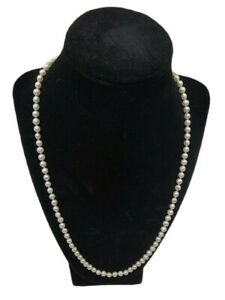 """14K Yellow Gold Clasp 4-5 mm Strand of Cultured Pearls 22"""" Necklace"""