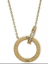 Michael Kors  Crystal Gold Tone 2 Ring Interlocking Pendant Necklace. MKJ4678710