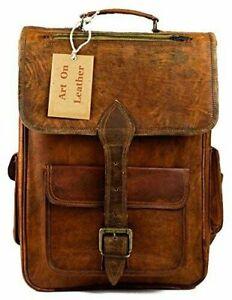 Women's Vintage Real Leather Backpack Rucksack Handmade Messenger Shoulder Bag