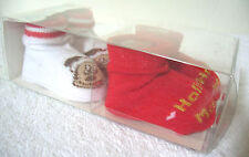Disney Baby Booties Christmas Holiday Socks Lot of 2 Infant Mickey Mouse Magic