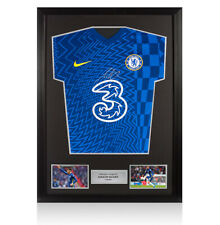 More details for framed mason mount signed chelsea shirt - home, 2021-2022 autograph jersey