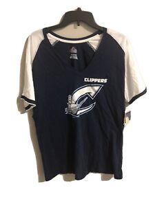 Minor League Columbus Clippers Women's V-neck T-Shirt Size M