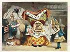 Painting Book Carrol Alice Wonderland Tenniel Queen Hearts Canvas Art Print
