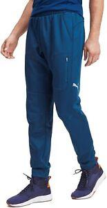 Puma evoStripe Warm Mens Sweatpants Blue Slim Gym Training Workout Pants Joggers