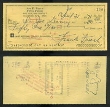 CK 169 Frank Frankie Frisch Cardinals Signed Autographed 1971 Personal Check