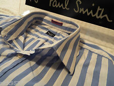 """Paul Smith Da Uomo Camicia 🌍 (Taglia 16"""" circonferenza petto 44"""") 🌏 RRP £ 95+ 🌏 superbamente a righe"""