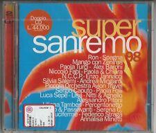 SUPER SAN REMO 98-DOPPIO CD NUOVO/scatola Originale NEW/SEALED (Mango/Spagna/Luca Sepe U. a)