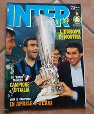 RIVISTA INTER FOOTBALL CLUB N. 6 GIUGNO 1991 FINALE COPPA UEFA