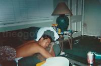 SLEEPING GUY Man FOUND PHOTO Color FREE SHIPPING Original Snapshot 711 10