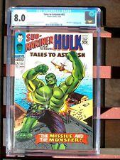 Tales To Astonish # 85 CGC 8.0 VF Hulk appears in Sub-Mariner story