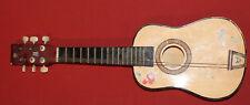 Vintage Hand Made 6 String Wood Acoustic Guitar Ukulele