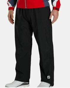 FootJoy Golf HydroLite Waterproof Rain Pants 35531 Black Large (L) NWT #73060