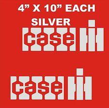 """CASE IH DECALS -- STICKERS  4"""" X 10"""" EACH   SILVER"""