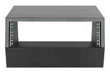 "Black 3u angled 19"" inch wooden rack unit/case/cabinet for studio/DJ/recording"