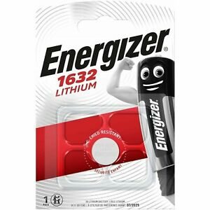 1x energizer 1632 CR1632 3V Lithium Coin Cell Battery DL1632 KCR1632, BR1632