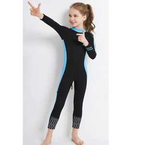 Stretchy Kids Wetsuit Girls Jumpsuit Teens Diving Suit for Surfing Snorkeling