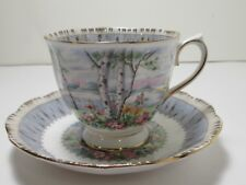 "ROYAL ALBERT ENGLISH CHINA  CUP& SAUCER  ""SILVER BIRCH"" EXC COND"