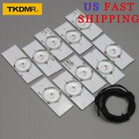 10PCS of LED lamp with 6V bulb diode 32-65 inch TV Optical Lens Flyer Backlight