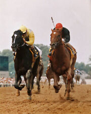 1989 Preakness Stakes SUNDAY SILENCE vs EASY GOER Glossy 8x10 Photo Poster Print
