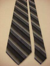 STAFFORD Men's Silk Neck Tie - Blues and Grays Diagonal Stripes