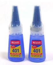 LOCTITE 401 Kunststoff Metall Holz Leder Sofortklebstoff Super Glue 20g x 2pc DE