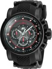 INVICTA MENS 52MM S1 RALLY TOURING CHRONO RED BLACK BAND WATCH 19323