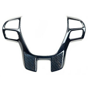 Carbon Fiber Color Steering Wheel Frame Cover Decor Fit For Ford Ranger Everest