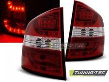 Faro Fanale Tuning SKODA OCTAVIA II KOMBI 04-12 Rosso/Bianco LED
