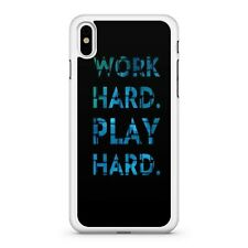 Work Hard Play Hard Blue Coloured Quote Ambition Motivational Phone Case Cover