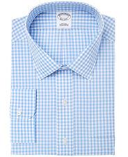 $295 BROOKS BROTHERS Men REGENT-FIT BLUE WHITE CHECK BUTTON DRESS SHIRT 16 - 35