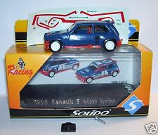 SOLIDO RENAULT 5 MAXI TURBO BLEU FONCE REF 1908 1/43 IN BOX planche décalques 1