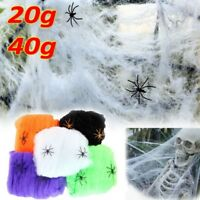 40g Halloween Spider Web Scary Party Scene Props Stretchy Cobweb Home Decoration